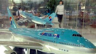Korean Airline model plane