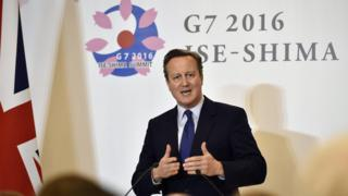 David Cameron at the G7 summit