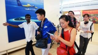 中國遊客佔馬爾代夫外國遊客人數比例大約30%