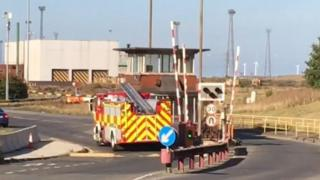 Emergency services at the SSI site