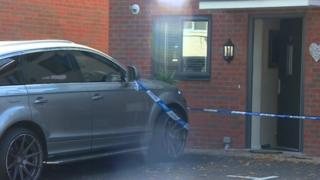 Police cordon at house