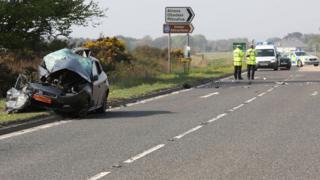 Scene of crash on A9