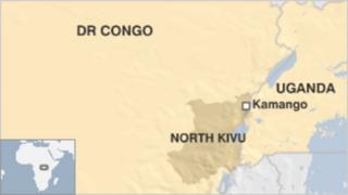 Ramani ya Kivu Kaskazini nchini DRC