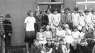 Hettie Williams as a young teacher at Pantglas Junior School