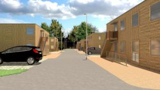 Artist's impression of Lowfield Road site