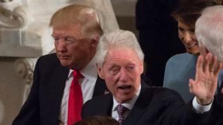 Donald Trump iyo Bill Clinton
