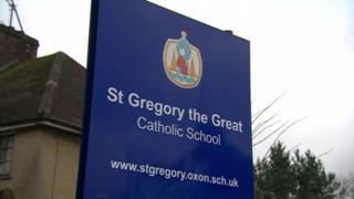 St Gregory the Great School sign