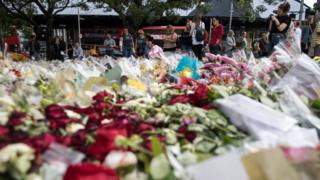 Floral tributes at Borough Market