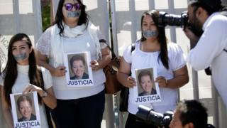 Journalists protest against the murder of the Mexican journalist Miroslava Breach, outside the Attorney General's Office (PGR) in Ciudad Juarez, Mexico