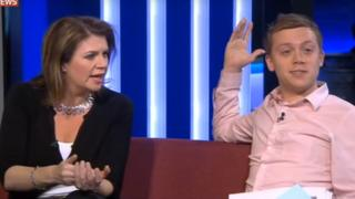 Julia Hartley-Brewer and Owen Jones