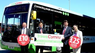 Ken Skates launches the TrawsCymru day ticket