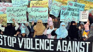 демонстрация за права женщин в пакистане