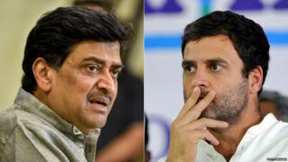 महाराष्ट्र काँग्रेस प्रदेशाध्यक्ष अशोक चव्हाण आणि काँग्रेस अध्यक्ष राहुल गांधी