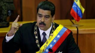 Nicolás Maduro en su informe anual de gobierno