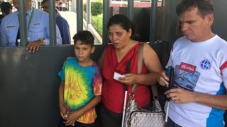 Maritza Castellon, her husband Juan Pablo Garcia and their son