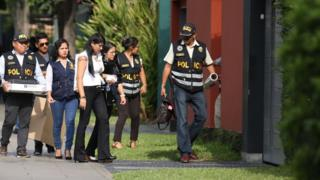 La police visite le domicile de l'ex-président péruvien pour perquisition.