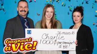 Charlie Lagarde won the lottery on her 18th birthday