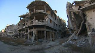 Homs in Syria seen some of the fiercest fighting of the four year civil war.