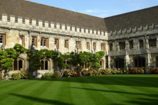 The quad at Magdalen College, Oxford
