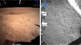 Images of the surface of the moon released by the Chinese space agency