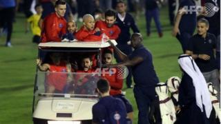 Neymar au volant d'une voiture de golf