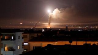 حمله موشکی اسراییل
