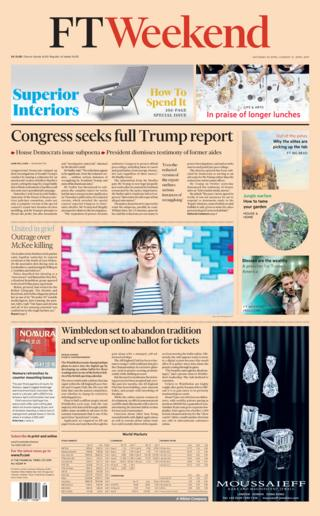 FT front page 20/04/19
