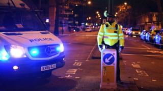 Police cordon after stabbing in London