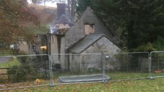 Burnt out cottage on Blenheim estate