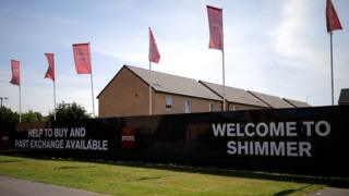 A view of the new Shimmer housing development which will be part demolished to make way for the HS2 high-speed rail link on July 17, 2017 in Mexborough, England