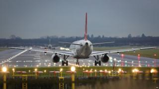 Plane at Gatwick Airport
