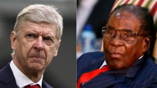 Arsene Wenger and Robert Mugabe