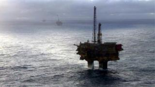 Greenpeace protest at Shell platform in Brent oil field