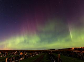 Aurora Borealis over Duffus village