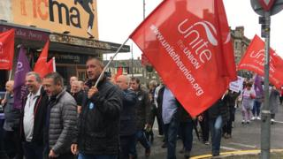 Tata workers march to save Newport's Orb steelworks