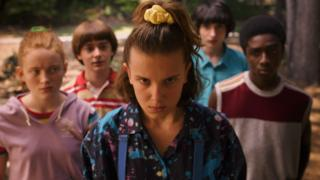 Millie Bobby Brown (centre)