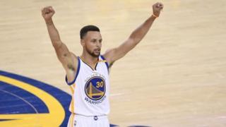 Stephen Curry de los Warriors