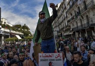 متظاهرون في العاصمة الجزائرية