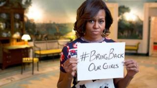 Le #BringBackOurGirls véhiculé en Afrique et au niveau international après l'enlèvement de 276 filles au Nigéria par Boko Haram.