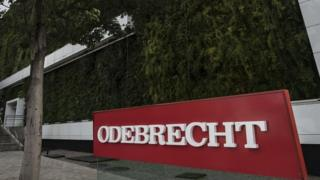View of the headquarters of Odebrecht in Sao Paulo