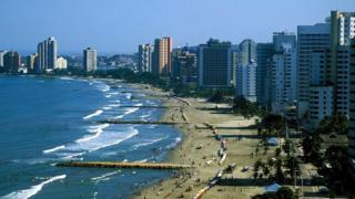 Число иностранных туристов, посещающих Колумбию, растет