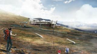 Artist's impression of revamped Ptarmigan restaurant