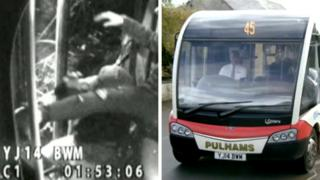 CCTV footage and bus
