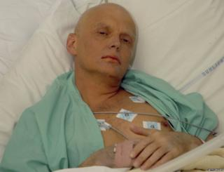 Alexander Litvinenko is pictured at the Intensive Care Unit