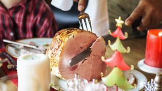Stock image of Christmas dinner