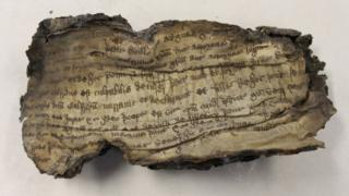 A singed parchment dating from the reign of King Henry VIII