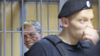 Иван Голунов в клетке 8 июня 2019 года