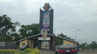 Di front of Obafemi Awolowo University