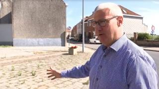 Mayor Sandy Evrard of the city of Mesen