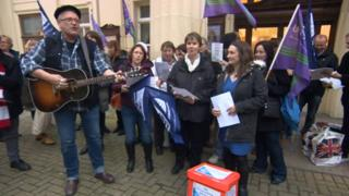 Protest outside Brighton Town Hall